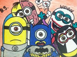 Despicable Me Minion Batman n Villains by sampson1721