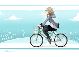 bicycle. by strawberry-queen1