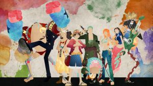 The Straw Hat Pirates - One Piece by doubleu42