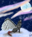 snowy wolfs FINISHED by ruthmary1985
