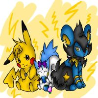 Electric Trio by 00-petitdragon-00