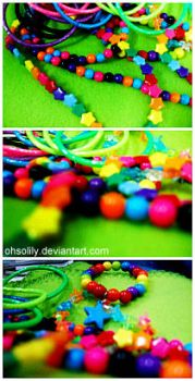 Colorful Rainbow Beads by ohsolily
