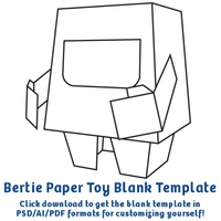 Bertie Paper Toy Template by moopf