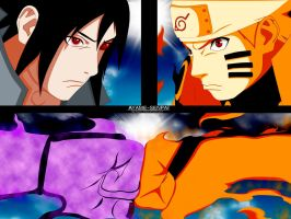 Naruto manga 695- Naruto vs. Sasuke finall fight by Ayame-Senpai