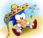Mexicano Sonic by Domestic-hedgehog