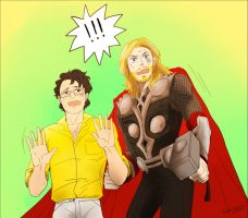 Thor and Banner by ttx6666