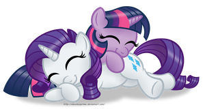 Sleepy Ponies - RariTwi edition by AleximusPrime