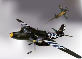 Douglas A-20 Havoc by wakdor