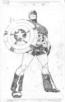 Captain America 2, pencils by JulienHB