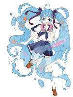 Water bottle Miku. by lana-jay