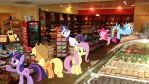 Mane 6 At The Candy Store by Mr-Kennedy92