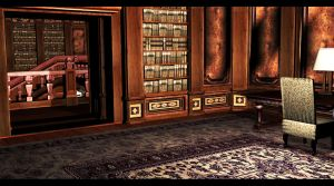 Library Room 5 | Croft Manor by Rockeeterl