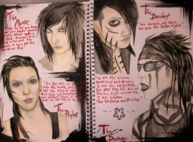 4/5ths of the Black Veil Brides by BlacklightArtist02