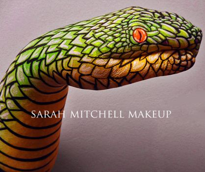 Bamboo Pit Viper Hand Paint by sarahmitchellmakeup