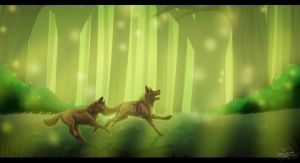 AT: .: The Neverending Forest :. by SillyTheWolf