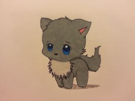 Chibi cat by mangagurlsmiles