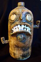lowbrow face jug by thebigduluth