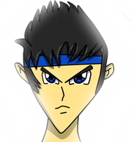 My first drawing anime style my char Human Fan by NSMBXomega