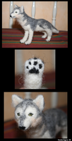 Needle felted - Wolf by Wolfmjau