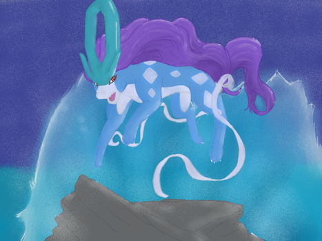 Suicune - Pokemon by Jinabrine