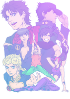 Past and Present Joestar by The-Lovely-Fagot