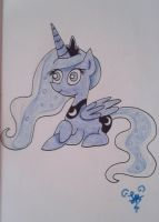 Princess Luna (Colored) by FuzzyyPanda