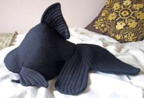 black fantail goldfish plush by PlushOwl