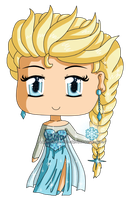 Frozen: Chibi Snow Queen Elsa by izka-197