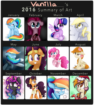 2016 Summary Of Art by VanillaShineArt