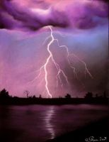 Purple lightning by ilanya