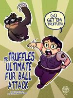 Mr. Truffles Fur Ball Attack by HenarTorinos