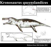 Kronosaurus queenslandicus by Teratophoneus