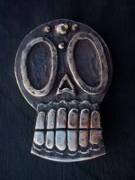 Los Muertos Skull Belt Buckle by TheNailBoy
