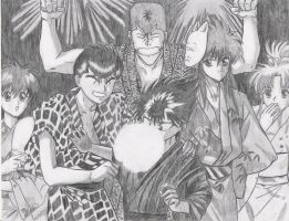 YUYU HAKUSHO group pic by hitome