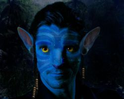 Christian Bale as a Na'vi by Silvermoose