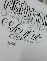 Hand-lettering by ngdieuly