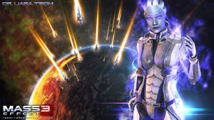 Mass Effect Wallpaper - Liara T'Soni by razor-rebus