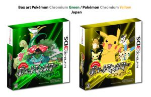 BoxArt - Pokemon Chromium Green Yellow - Japan by DlynK