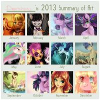 Dreamchan's 2013 Summary of Art by dreampaw
