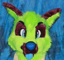 Trotsky fursuit (mask only) by Pigeonnuggets