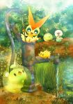 Victini and Friends by lunasnightmare