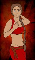 Older Fire Nation Garb Katara by EevyLynn
