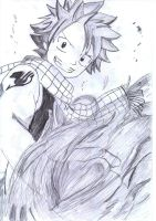 Natsu Fire Fist by hearts-of-glass