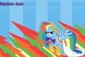 Rainbow dash wallpaper by themancat