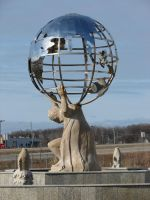 Atlas Fountain Statue by FantasyStock