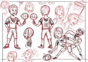 character roughs by sunilk83