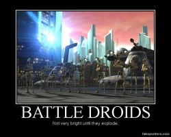 Star Wars The Clone Wars Battle Droids by Onikage108