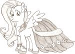 Fluttershy in Gala Dress by TheLordofPies