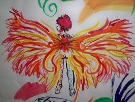 Wings of Fire Water Color by Sai-Saishi