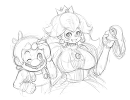 Mario and Peach by CheloStracks